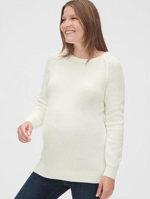 Gap Maternity Waffle Stitch Crewneck Sweater