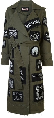 Haculla Patch Detail Belted Coat