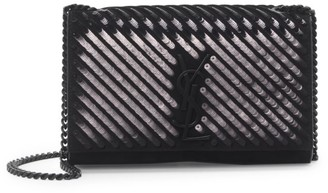 Saint Laurent Kate Sequin Leather Shoulder Bag