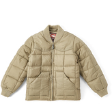 Roper Brown Quilted Zip-Up Jacket - Boys