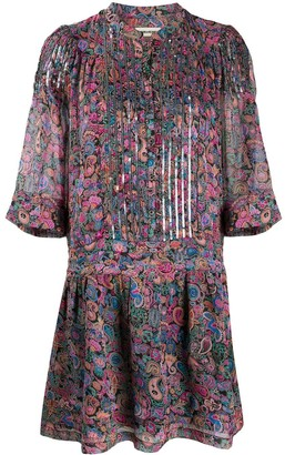 Zadig & Voltaire Paisley-Print Flared Dress