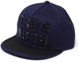 True Religion True Navy Block Letter Flat Peak Cap