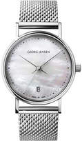 Georg Jensen Koppel stainless steel mother-of-pearl watch