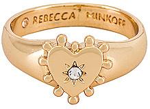 Rebecca Minkoff Studded Heart Pinky Ring