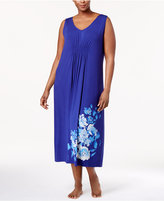 Alfani Plus Size Floral-Print Knit Nightgown, Created for Macy's