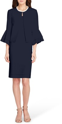 Tahari Imitation Pearl Jacket & Sheath Dress