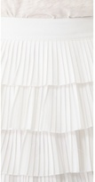 Robert Rodriguez Pleated Tiered Ball Skirt