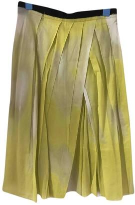 Marni Yellow Cotton Skirt for Women