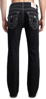 True Religion Men's Denim Pants and Jeans 2SB - Body Rinse Black Flap-Pocket Big T Straight-Leg Jeans - Men & Big