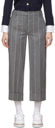 Thom Browne Grey Shadow Stripe Sack Trousers