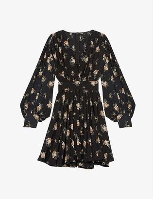 Maje Rasmus floral-print crepe mini dress