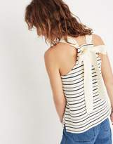Madewell Striped Bow-Back Tank Top