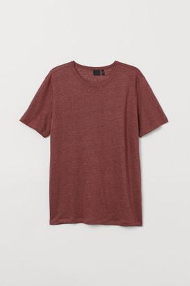 H&M Linen T-shirt - Red