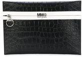 MM6 MAISON MARGIELA contrast clutch bag