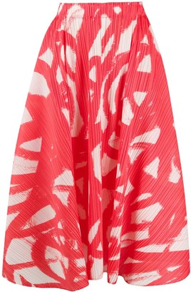 Pleats Please Issey Miyake micro-pleated A-line skirt