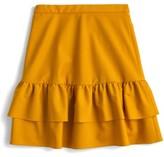 J.Crew Petite Women's Wool Flannel Ruffle Skirt