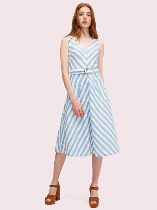 Kate Spade Deck Stripe Midi Dress