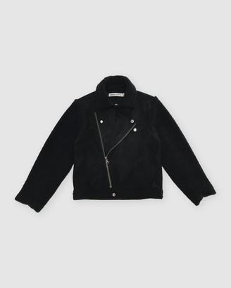 Gelati Jeans Dean Suede Fleece Moto Jacket