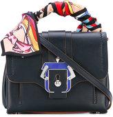 Paula Cademartori scarf handle mini tote bag - women - Cotton/Leather - One Size