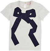 Lanvin BOW-EMBELLISHED T-SHIRT-NUDE SIZE 10