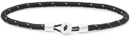 Miansai Nexus Sterling Silver And Cord Bracelet