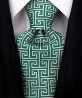 Scott Allan Collection Scott Allan Mens Geometric Greek Key Necktie