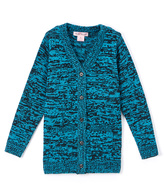 Pink Angel Go Blue & Black Twist V-Neck Cardigan - Infant Toddler & Girls