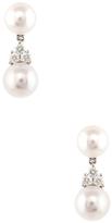 Tiffany & Co. Vintage Platinum, Pearl & 0.27 Total Ct. Diamond Drop Earrings
