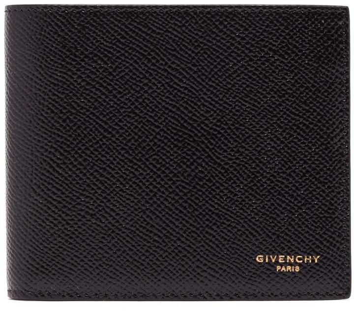 Givenchy Grained-leather bi-fold wallet