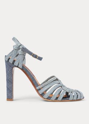 Ralph Lauren Telma Woven Cotton Sandal