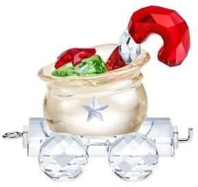 Swarovski Santa's Gift Bag Wagon Crystal Figurine