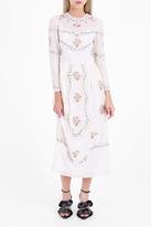 Vilshenko Sofia Embroidered Voile Dress