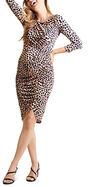 Ingrid & Isabel Shirred Animal Print Dress