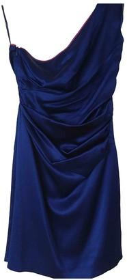 Philosophy di Alberta Ferretti Blue Silk Dress for Women