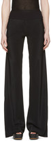 Rick Owens Black Bias Trousers