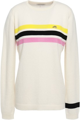 Bella Freud Embroidered Striped Cashmere Sweater