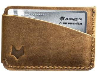 Mr Fox Handmade Tobacco Leather Card Holder