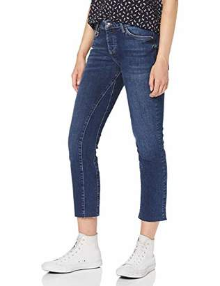 S'Oliver Women's 14.908.72.3464 Trouser, (Blue Denim Stretch 58z7), (Size: 38)