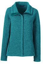Classic Women's Plus Size Sweater Fleece Jacket-Cranapple Heather
