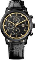 Tommy Hilfiger Men's Cool Sport Black Leather Strap Watch 44mm 1791245
