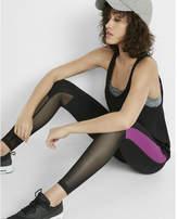 Express EXP core black and purple side stripe legging