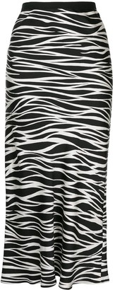 Anine Bing Bar silk zebra print skirt