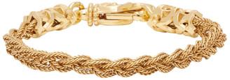 Emanuele Bicocchi Gold Small Braided Bracelet