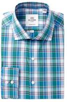 Ben Sherman Royal Plaid Slim Fit Dress Shirt