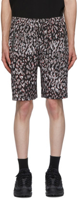 Stolen Girlfriends Club Black and Grey Ink Cat Lounge Shorts