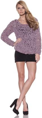 Foley + Corinna Women's Norma Crochet Chiffon Sweater
