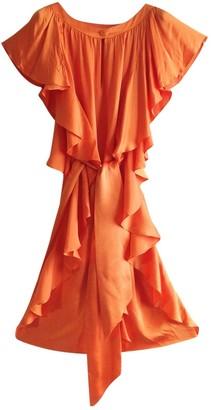Escada Orange Silk Dress for Women