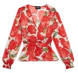 The Kooples Summer Peonies Floral Print Top