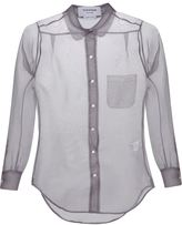 Thom Browne sheer shirt - women - Silk - 40