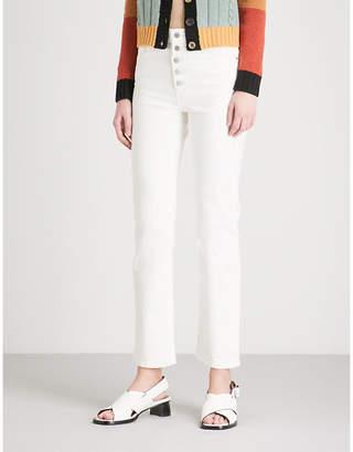 Joseph Den straight slim-fit stretch-gabardine trousers